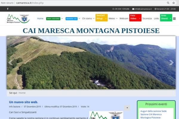 IL NUOVO SITO WEB DEL CAI MARESCA MONTAGNA PISTOIESE