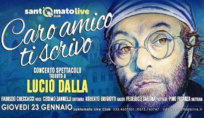 santomato live. CARO AMICO TI SCRIVO, TRIBUTO A LUCIO DALLA