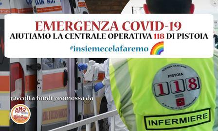 """emergenza covid-19. PROSEGUE LA RACCOLTA FONDI """"AIUTIAMO LA CENTRALE OPERATIVA 118 PISTOIA"""""""
