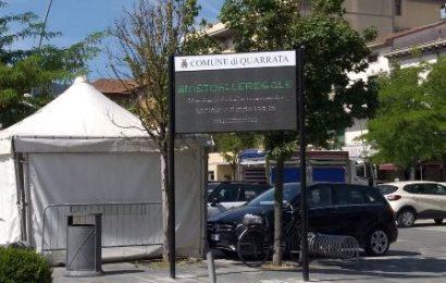 quarrata. DA OGGI IN FUNZIONE IL PANNELLO INFORMATIVO DI PIAZZA RISORGIMENTO