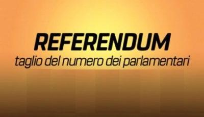 referendum costituzionale. AL VOTO DOMENICA 20 E LUNEDÌ 21 SETTEMBRE