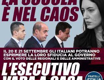 """FRATELLI D'ITALIA: """"CAOS SCUOLA: COME SEMPRE NE FANNO LE SPESE STUDENTI E FAMIGLIE"""""""