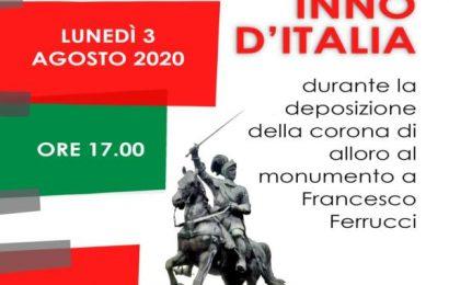 gavinana rinascimentale. CORONA D'ALLORO E INNO D'ITALIA IN ONORE DI FRANCESCO FERRUCCI
