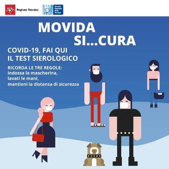 """""""MOVIDA SI…CURA"""", TEST SIEROLOGICI GRATUITI E VOLONTARI PER I GIOVANI IN CENTRO"""