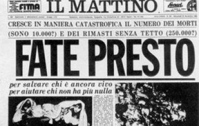 """terremoto in irpinia. """"QUEL 1980 ERA L'ALBA DEL VOLONTARIATO A QUARRATA"""""""