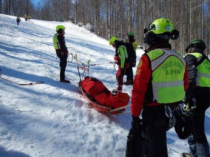 soccorso alpino. INTERVENTO DI RECUPERO ZONA MONTE GENNAIO