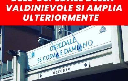 """QUASI TUTTI OCCUPATI I POSTI DEL REPARTO ORDINARIO COVID DELL'OSPEDALE """"SS COSMA E DAMIANO"""