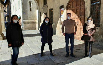 IL SINDACO TOMASI INCONTRA LE LAVORATRICI DOUGLAS PROFUMERIE