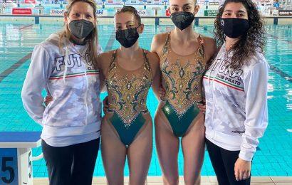 GINEVRA MARCHETTI, A 14 ANNI AL CAMPIONATO ITALIANO ASSOLUTO DI NUOTO SINCRONIZZATO DI RICCIONE