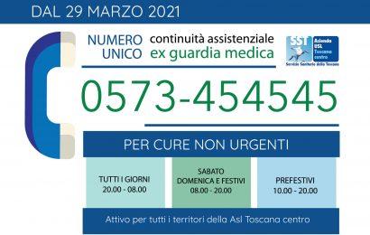 EX GUARDIA MEDICA, DAL 29 MARZO ATTIVO UN NUOVO NUMERO DI TELEFONO