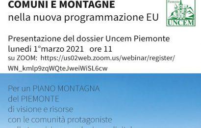 """MONTAGNA E COMUNI NELLA PROGRAMMAZIONE 2021-2027, PRESENTATO IL DOSSIER UNCEM """"TERRITORIO IN TRANSIZIONE"""""""