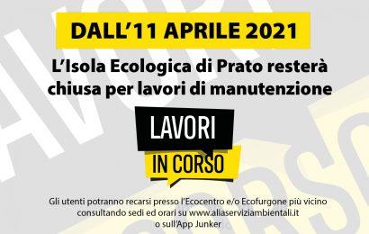 L'ISOLA ECOLOGICA DI VIA PARONESE CHIUDE DALL'11 APRILE 2021 PER LAVORI DI MANUTENZIONE