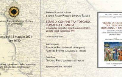 «TERRE DI CONFINE TRA TOSCANA, ROMAGNA E UMBRIA» PRESENTAZIONE WEB MERCOLEDÌ 12 MAGGIO
