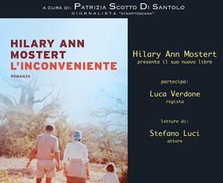 """caffè letterario. NEL PARCO DI VILLA GIAMARI ARRIVA HILARY MOSTERT CON """"L'INCONVENIENTE"""""""
