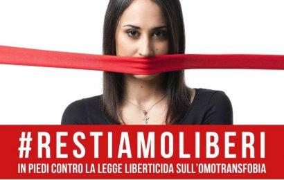 #restiamoliberi. A LUCCA VENERDÌ 9 LUGLIO MANIFESTAZIONE IN PIAZZA NAPOLEONE