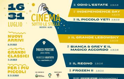 CINEMA SOTTO LE STELLE AL PARCO PERTINI DI AGLIANA